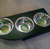 Для домашних животных, handmade. Livemaster - original item Stand with bowls - 3. Handmade.