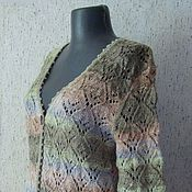 Одежда ручной работы. Ярмарка Мастеров - ручная работа Кардиган вязаный Ажурный. Handmade.