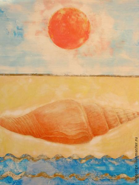Символизм ручной работы. Ярмарка Мастеров - ручная работа. Купить Алхимическое Единство. Handmade. Коралловый, солнце, единство, картина для интерьера