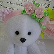 Куклы и игрушки ручной работы. Ярмарка Мастеров - ручная работа мягкая текстильная игрушка Мишка девочка. Handmade.