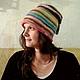 """Шапки ручной работы. Ярмарка Мастеров - ручная работа. Купить шапка """"Зимняя радуга """". Handmade. В полоску"""