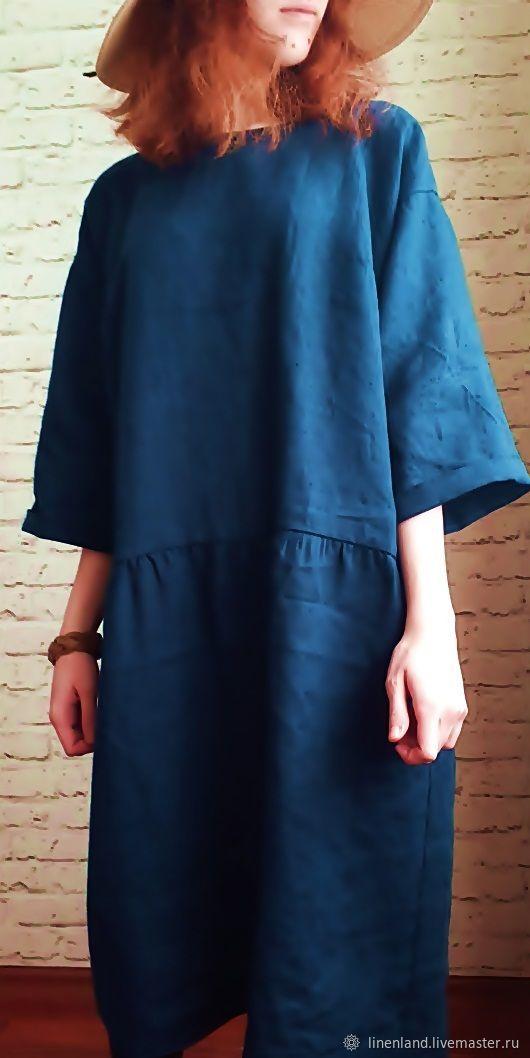 Льняное платье бохо, Платья, Санкт-Петербург,  Фото №1