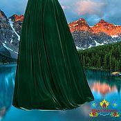 """Одежда ручной работы. Ярмарка Мастеров - ручная работа изумрудная бархатная юбка """"Хвоя"""". Handmade."""
