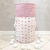 Элементы интерьера ручной работы. Ярмарка Мастеров - ручная работа Текстильная корзина для игрушек. Handmade.