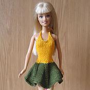 Куклы и игрушки ручной работы. Ярмарка Мастеров - ручная работа Желто-зеленое летнее платье. Handmade.