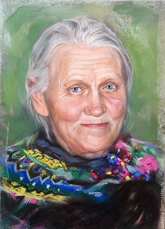 Персональные подарки ручной работы. Ярмарка Мастеров - ручная работа. Купить Портрет бабушки (подарок на 8 Марта). Handmade. Комбинированный