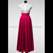 Одежда ручной работы. Ярмарка Мастеров - ручная работа Юбка в пол, длинная юбка, Бордовая юбка, юбка макси, юбка солнце. Handmade.