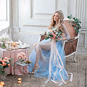 """Одежда ручной работы. Ярмарка Мастеров - ручная работа Будуарное платье """"Голубое"""". Handmade."""