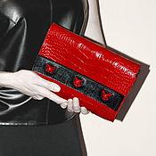 Сумки и аксессуары ручной работы. Ярмарка Мастеров - ручная работа Красный клатч - Сумка с кошкой - Необычная сумка. Handmade.