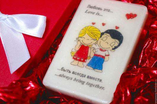 Подарки для влюбленных ручной работы. Ярмарка Мастеров - ручная работа. Купить Мыло Love is... быть вместе (в коробочке ручной работы). Handmade.