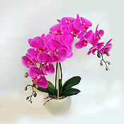 Цветы и флористика ручной работы. Ярмарка Мастеров - ручная работа Ярко-розовая орхидея. Handmade.