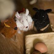 Куклы и игрушки ручной работы. Ярмарка Мастеров - ручная работа 5 мышат по мотивам книжки. Handmade.