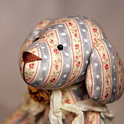 Куклы и игрушки ручной работы. Ярмарка Мастеров - ручная работа Тильда собачка  Розочка винтажная. Handmade.
