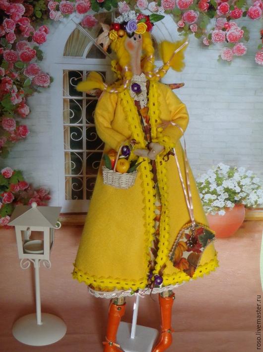 Куклы Тильды ручной работы. Ярмарка Мастеров - ручная работа. Купить Бабье лето. Handmade. Желтый, кукла ручной работы