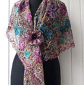 Аксессуары handmade. Livemaster - original item In anticipation of the summer - fishnet shawl. Handmade.