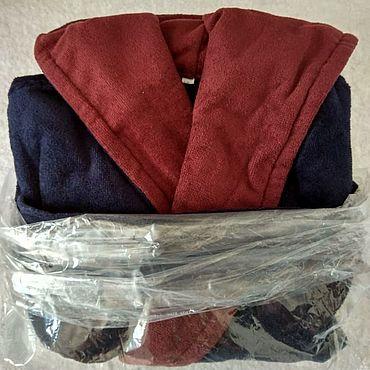 Одежда ручной работы. Ярмарка Мастеров - ручная работа Халат с капюшоном 6-8лет велюр-махра. Handmade.