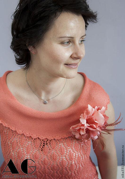 """Платья ручной работы. Ярмарка Мастеров - ручная работа. Купить Платье """" Желанная"""". Handmade. Коралловый, платье длинное"""