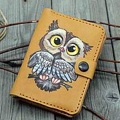 Сумки и аксессуары handmade. Livemaster - original item Purse for car documents Owl with a department for passport. Handmade.