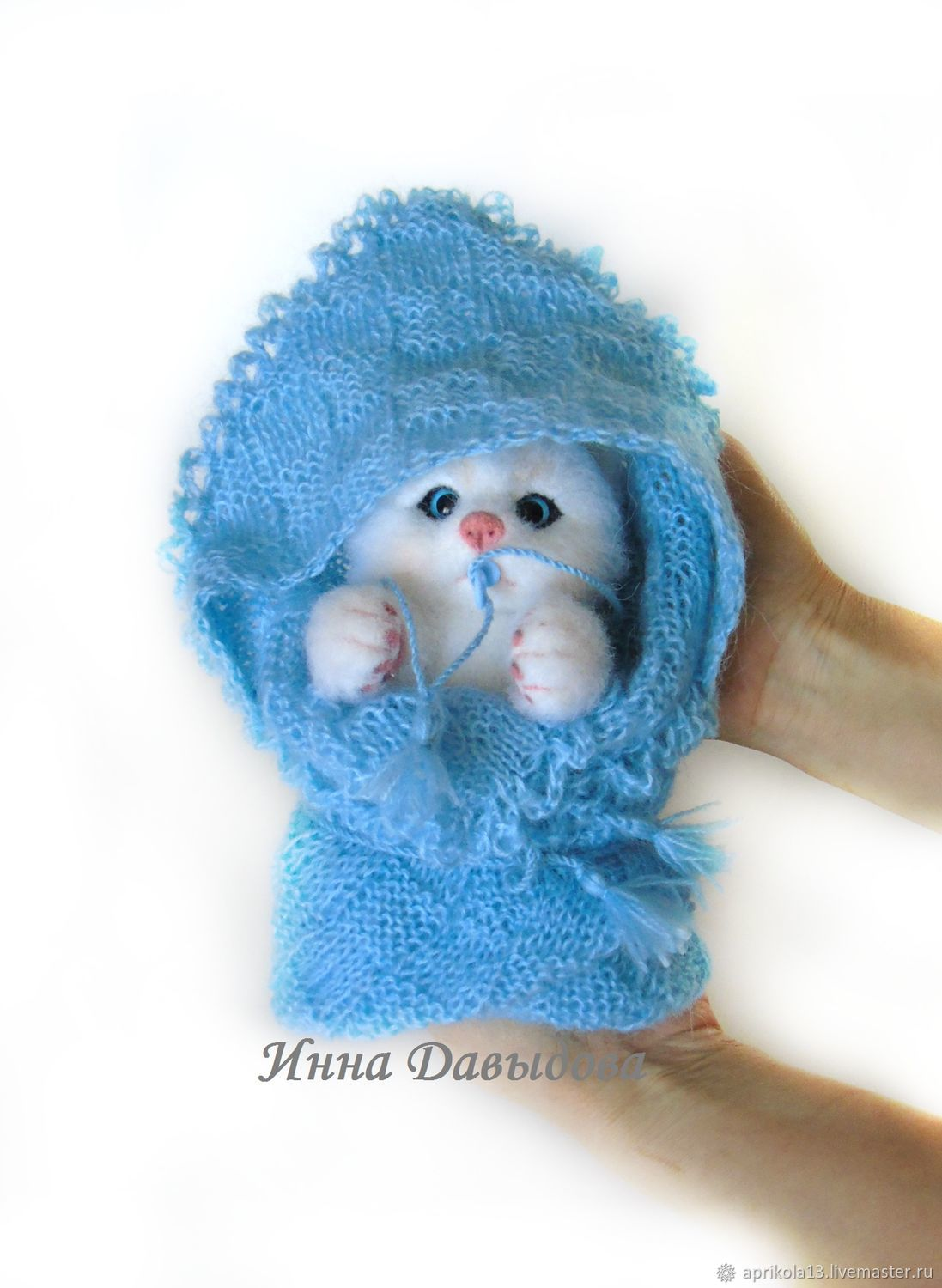 Felted kitten Plyushechka. The toy is made of wool, Felted Toy, Maloyaroslavets,  Фото №1