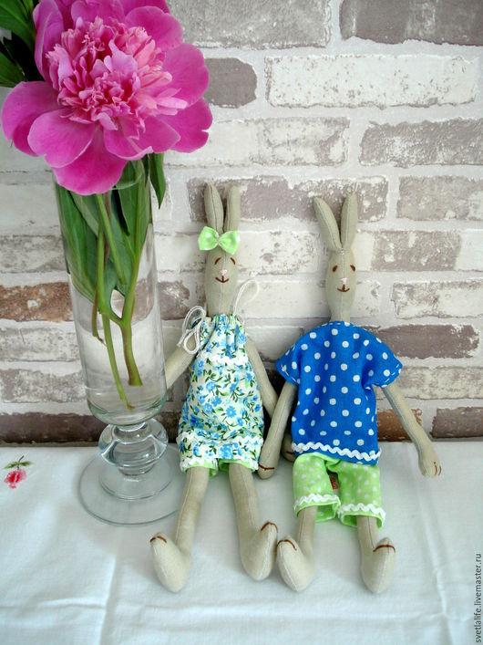 Игрушки животные, ручной работы. Ярмарка Мастеров - ручная работа. Купить Комплект зайчиков Девочка Зая и Мальчик Зай. Handmade.