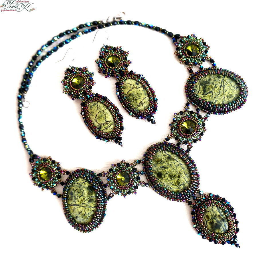 Jewelry set with Swarovski coils and the nymph of the Forest, Jewelry Sets, Rostov-on-Don,  Фото №1