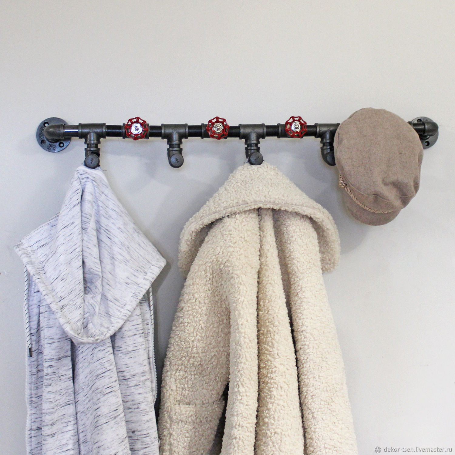 Industrial style wall hanger, loft, Clothes Hangers and Hooks, Chelyabinsk,  Фото №1