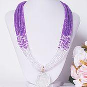 Украшения handmade. Livemaster - original item Necklace with rock crystal