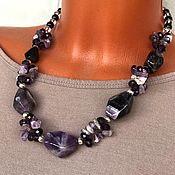 Украшения handmade. Livemaster - original item the necklace made of natural stones. Large necklace amethyst. Handmade.