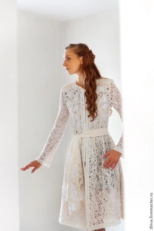 Верхняя одежда ручной работы. Ярмарка Мастеров - ручная работа. Купить  Платье-пальто Боярышня ... 3b1a9d01c45