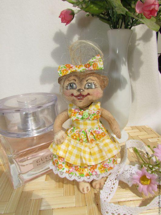 Мимишная арома-мартышка Эльза, 13см. Кофейные игрушки подходят для украшения интерьера и уюта дома, и будут долго радовать своим видом, а особенно ароматом.