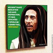 Картины и панно handmade. Livemaster - original item Painting a poster of Bob Marley with the style of Pop art. Handmade.
