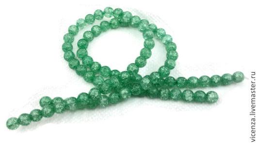 Для украшений ручной работы. Ярмарка Мастеров - ручная работа. Купить Сахарный кварц 10 мм зеленый. Handmade. Голубой