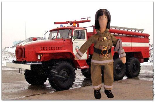 Куклы Тильды ручной работы. Ярмарка Мастеров - ручная работа. Купить Кукла пожарный. Handmade. Пожарный, тильда, тильда пожарник