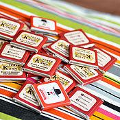 Дизайн и реклама ручной работы. Ярмарка Мастеров - ручная работа Дизайн для шоко-визиток. Handmade.