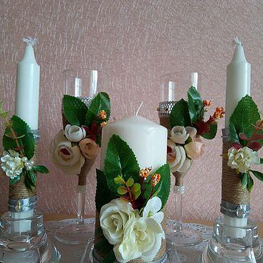 Свадебный салон ручной работы. Ярмарка Мастеров - ручная работа Свадебный набор в стиле рустик. Handmade.