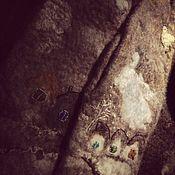 """Аксессуары ручной работы. Ярмарка Мастеров - ручная работа Шерстяные варежки """"Русь моя""""варежки с домиками валяные. Handmade."""