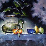 Картины и панно handmade. Livemaster - original item Oil painting still life with kettle. Handmade.