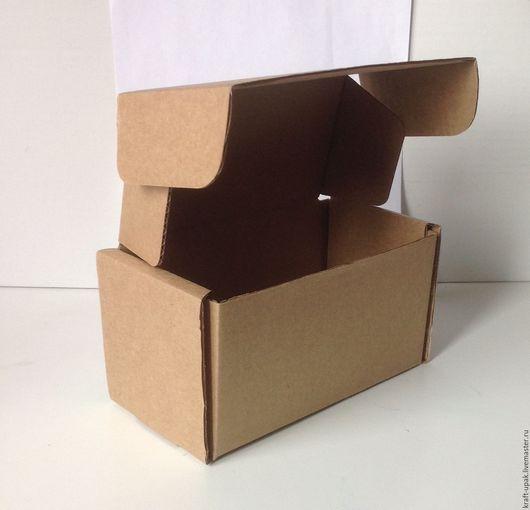 Упаковка ручной работы. Ярмарка Мастеров - ручная работа. Купить Коробка 15,5х8,5х9 самосборная. Handmade. Натуральный