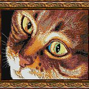 Материалы для творчества handmade. Livemaster - original item Kit embroidery with beads Red cat