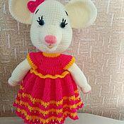 Мягкие игрушки ручной работы. Ярмарка Мастеров - ручная работа Мягкие игрушки: белая мышка. Handmade.