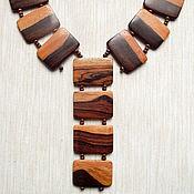 "Украшения handmade. Livemaster - original item Wooden necklace ""Medieval times"". Handmade."
