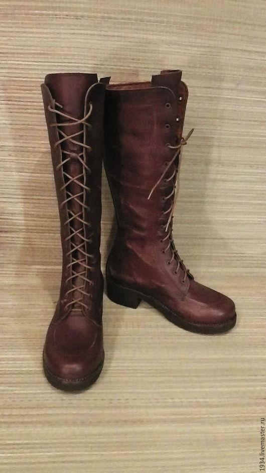 Обувь ручной работы. Ярмарка Мастеров - ручная работа. Купить Сапоги женские (винтаж-2). Handmade. Коричневый, женская обувь