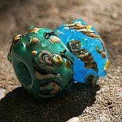 """Бусины ручной работы. Ярмарка Мастеров - ручная работа Лэмпворк бусины Pandora """"После шторма"""". Handmade."""
