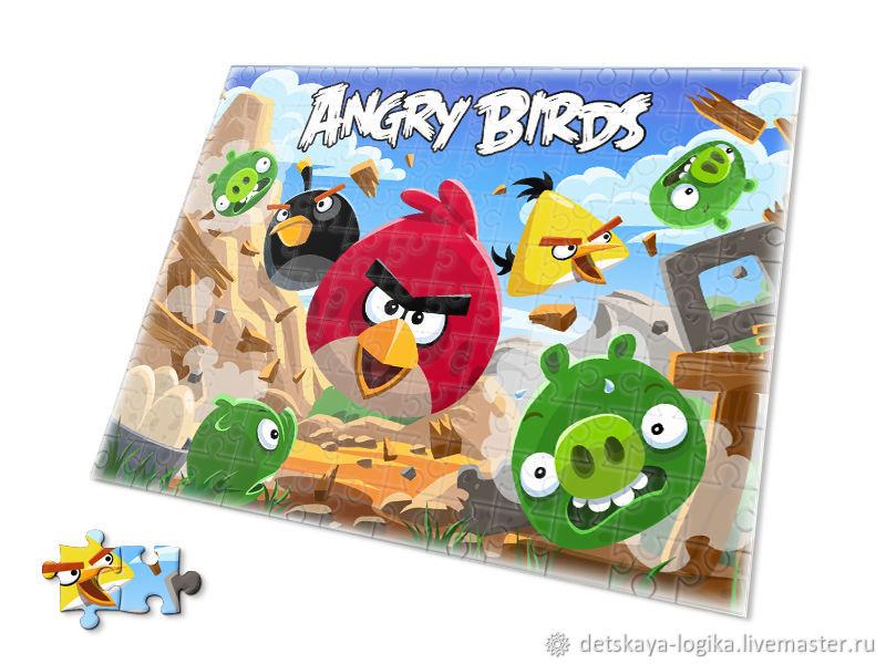 Деревянная книга пазлы Angry Birds, Пазлы головоломки, Старый Оскол,  Фото №1