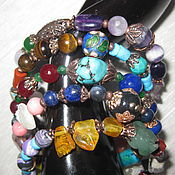 Украшения handmade. Livemaster - original item 02 AQUARIUS charm Bracelet 5 speed NAT. stones Zodiac. Handmade.