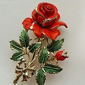 Винтаж ручной работы. Ярмарка Мастеров - ручная работа EXQUISITE Роза (июнь) большая винтажная Англия 1950-е. Handmade.