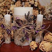 """Свадебный салон ручной работы. Ярмарка Мастеров - ручная работа Свадебные свечи """"Прованс"""". Handmade."""