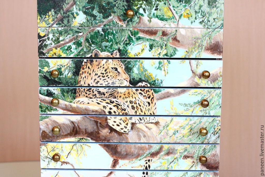 Шкатулка для украшений Leopard, Мини-комоды, Санкт-Петербург, Фото №1