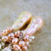 Украшения ручной работы. Ярмарка Мастеров - ручная работа Серьги Delicate Pearl серебро жемчуг. Handmade.
