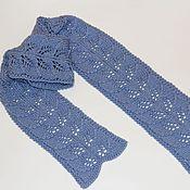 Аксессуары handmade. Livemaster - original item Knitted scarf with pattern of leaves